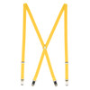 1/2 Inch Wide Skinny Suspenders - YELLOW