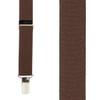 1 Inch Wide Clip Suspenders (X-Back) - BROWN