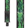 Green Flames Suspenders - 2 Inch Wide Clip