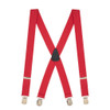1.5 Inch Wide Pin Clip Suspenders - RED