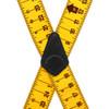 Yellow Tape Measure Suspenders - Construction Clip