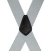 2 Inch Wide Construction Clip Suspenders - LIGHT GREY