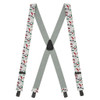 White Golf Suspenders With Black Construction Clip