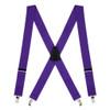 1.5 Inch Wide Clip Suspenders - PURPLE