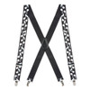 White Music Notes on Black Suspenders - CLIP