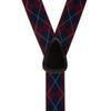 Burgundy Argyle Suspenders - 1.38 Button