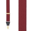 Jacquard Checkered Drop-Clip Suspenders
