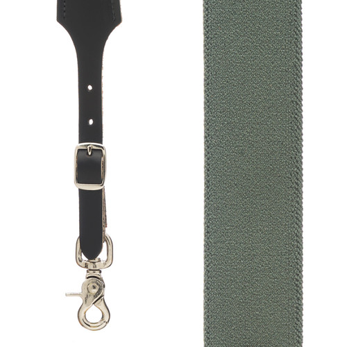 Rugged Comfort Suspenders - Trigger Snap CACTUS GREEN