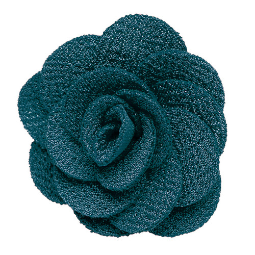 Lapel Flower - TEAL Crepe