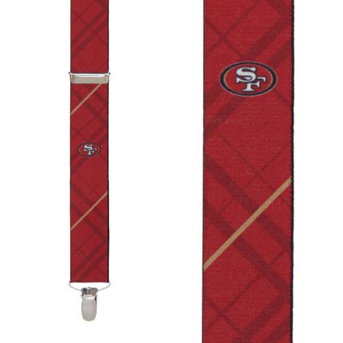 San Francisco 49ers Football Suspenders
