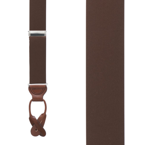 BROWN Bangkok Silk Suspenders - Button