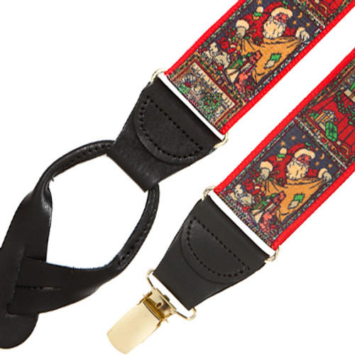 Kris Kringle Dressy Christmas Suspenders