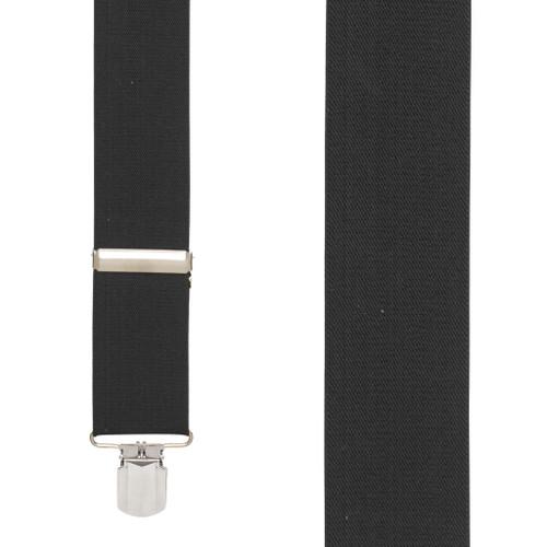 2-Inch Wide Pin Clip Suspenders - BLACK