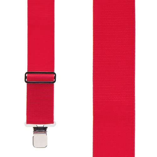 Heavy Duty Work Suspenders - RED