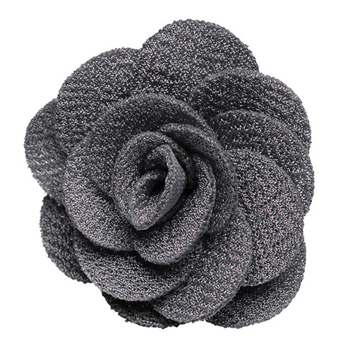 Lapel Flower - GREY Crepe