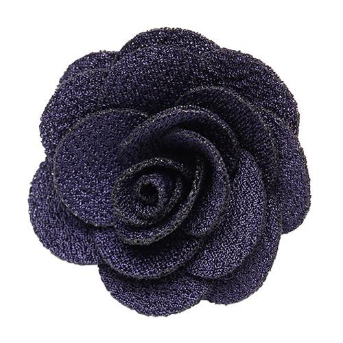 Lapel Flower - NAVY BLUE Crepe