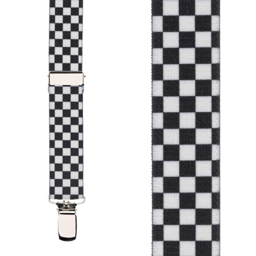 Checkered Suspenders for Kids