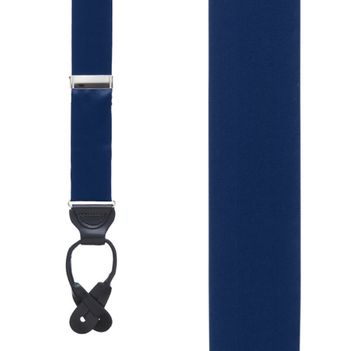 NAVY Bangkok Silk Suspenders - Button