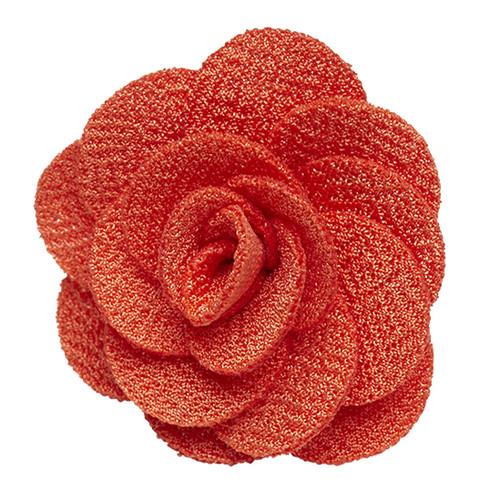 Lapel Flower - ORANGE Crepe