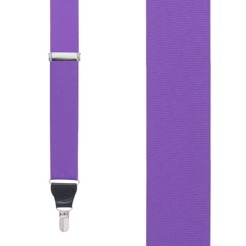 Purple Grosgrain CLIP Suspenders