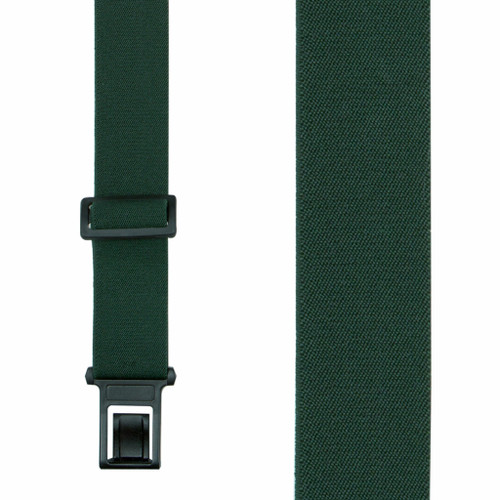 Green Perry Suspenders - 1.5 Inch Wide Belt Clip