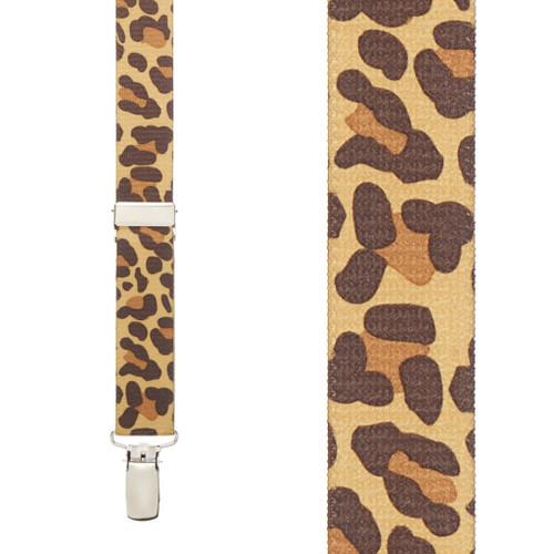 Leopard Print Suspenders