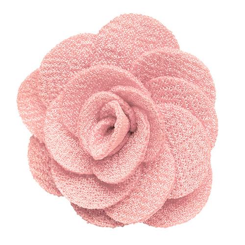 Lapel Flower - LIGHT PINK Crepe