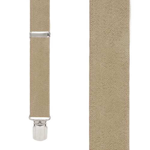 1.5 Inch Wide Construction Clip Suspenders - TAN