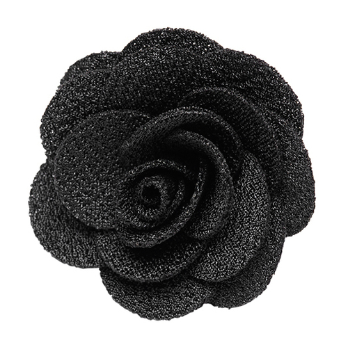 Lapel Flower - BLACK Crepe