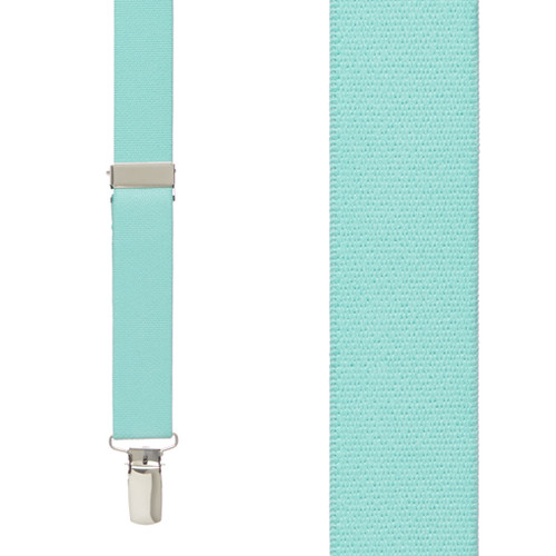 1 Inch Wide Clip Suspenders (X-Back) - MINT