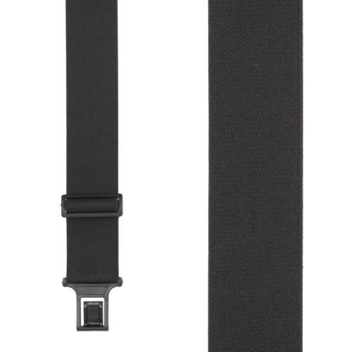Black Perry Suspenders - 2 Inch Wide Belt Clip
