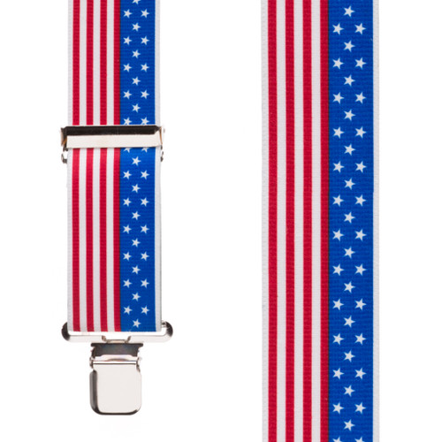 USA Stars and Stripes Suspenders - 2 Inch Wide