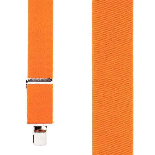 2 Inch Wide Construction Clip Suspenders - ORANGE