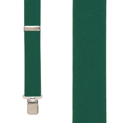 1.5 Inch Wide Construction Clip Suspenders - HUNTER