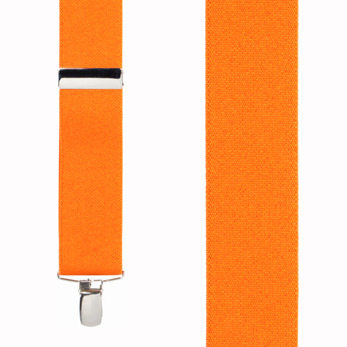 1.5 Inch Wide Clip Suspenders - ORANGE