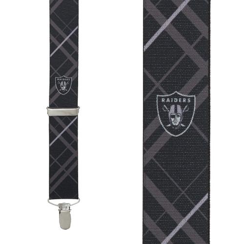 Oakland RAIDERS Football Suspenders