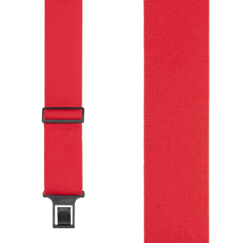 Red Perry Suspenders - 2 Inch Wide Belt Clip