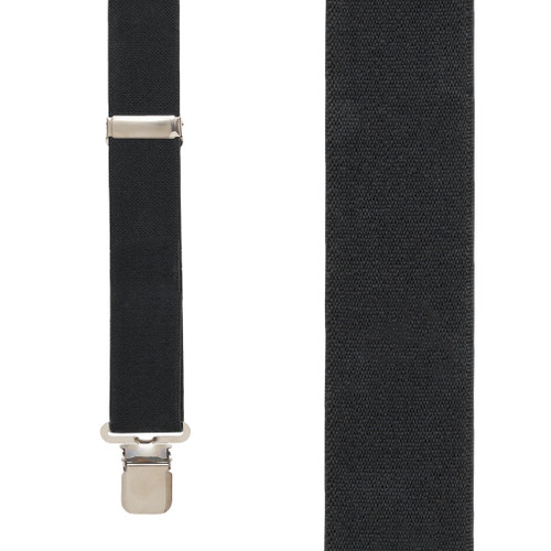 1.5 Inch Wide Construction Clip Suspenders - BLACK