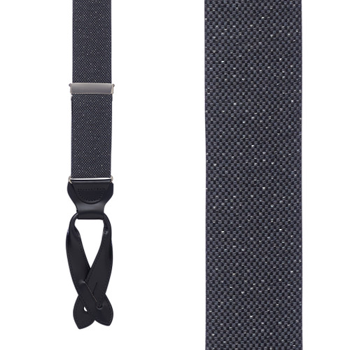 GREY Canton Silk Tweed Suspenders