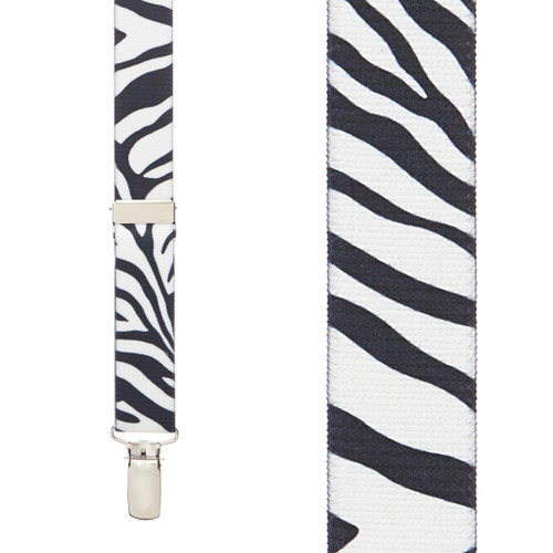 Zebra Suspenders for Kids - 36 Inch Only