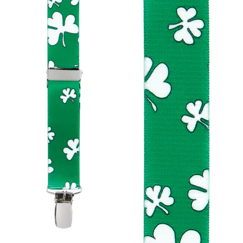 Shamrock Suspenders for Kids