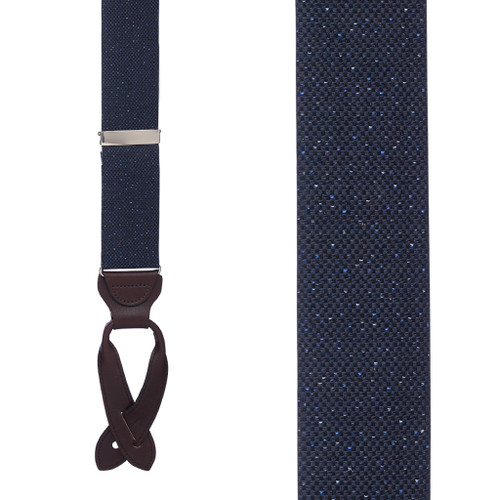 NAVY Canton Silk Tweed Suspenders