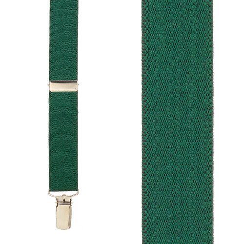 1 Inch Wide Clip Suspenders (X-Back) - HUNTER