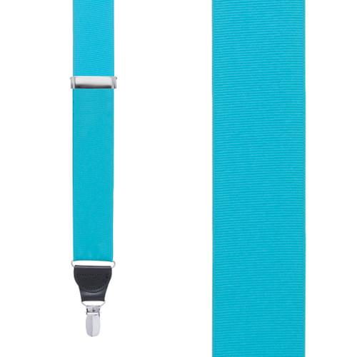 Turquoise Grosgrain CLIP Suspenders