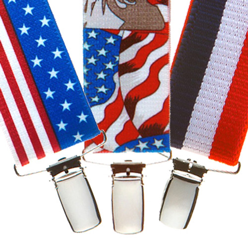 Red, White and Blue Suspenders