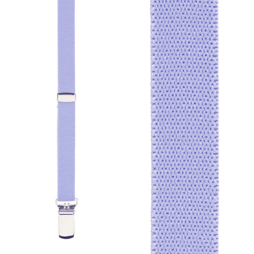 1/2 Inch Wide Skinny Suspenders - LIGHT PURPLE
