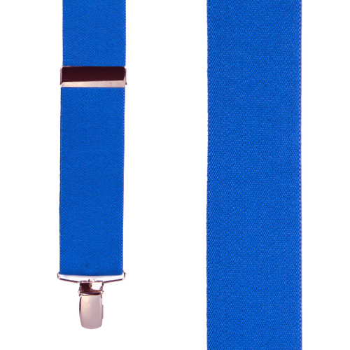 1.5 Inch Wide Clip Suspenders - ROYAL BLUE