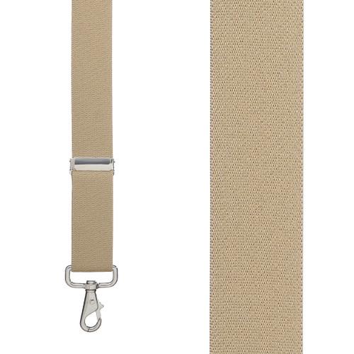 1.5 Inch Wide Trigger Snap Suspenders - TAN