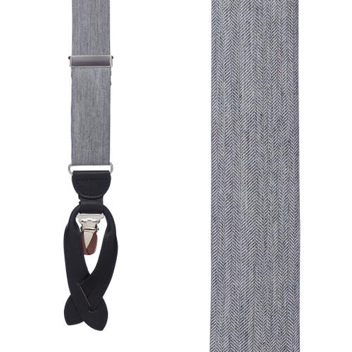 Salerno Grey Silk Herringbone