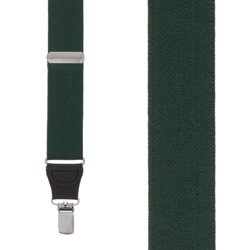 1.25 Inch Y-Back Clip Suspenders - HUNTER